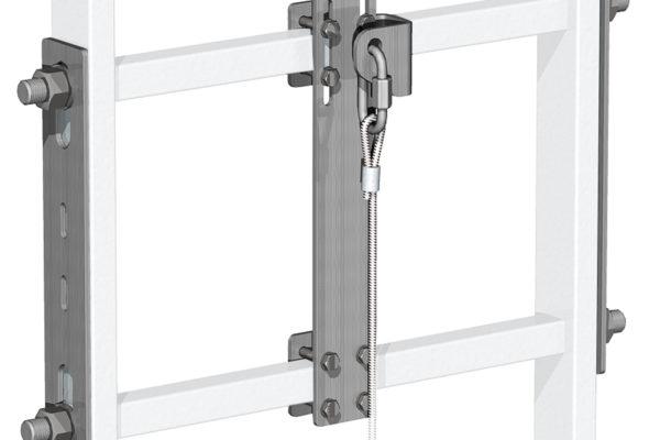 incravattatura scala alluminio